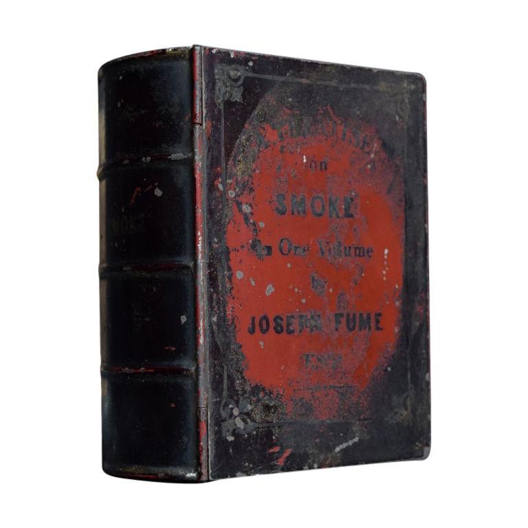 Rare English Tobacco Book Tin, circa 1840