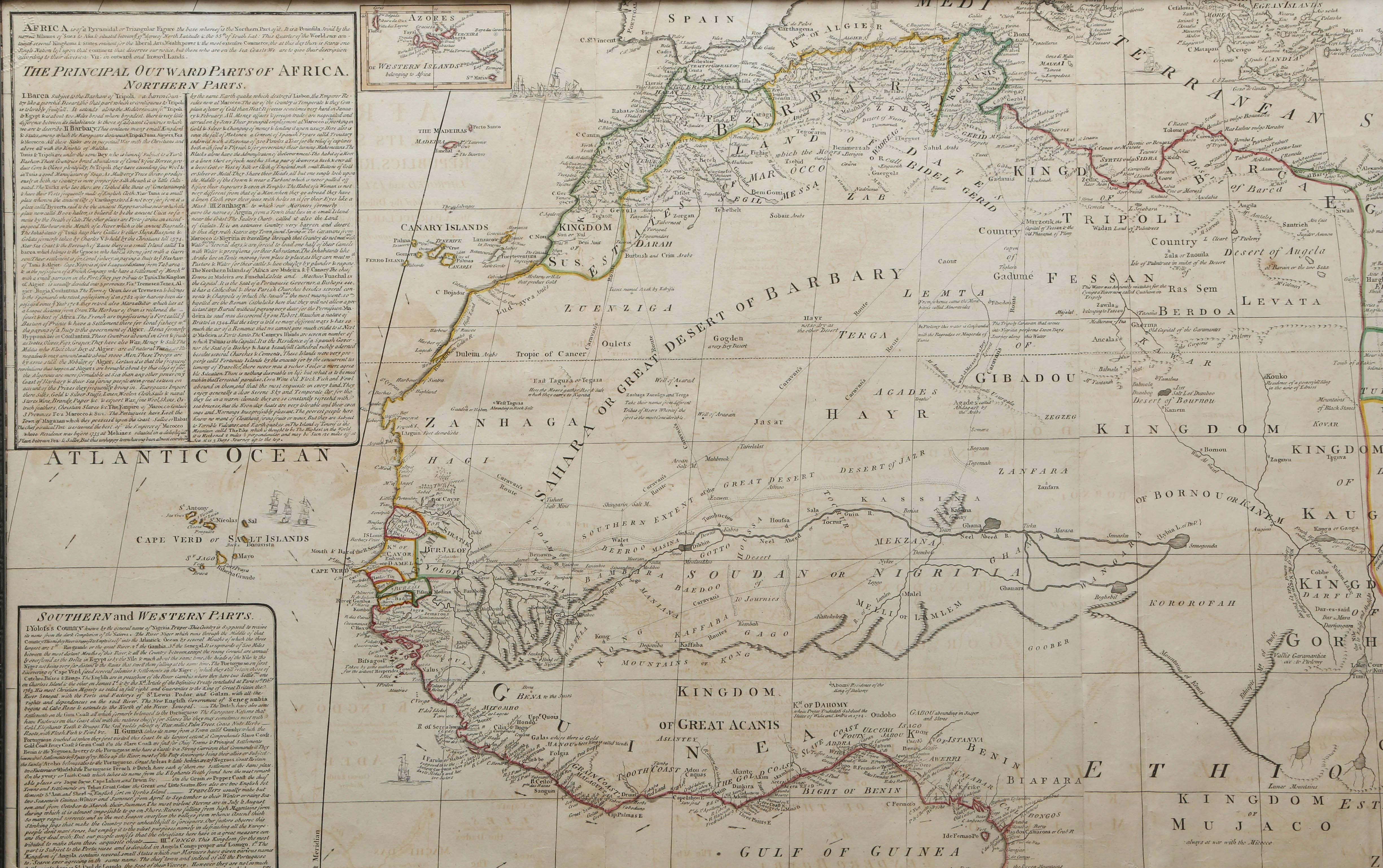 rare engraved map of africa by samuel boulton 1800 at 1stdibs