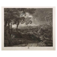 """Rare Engraving """"Il Temporale Del Pussino"""" by Wilhelm Gmelin After Poussin circa"""