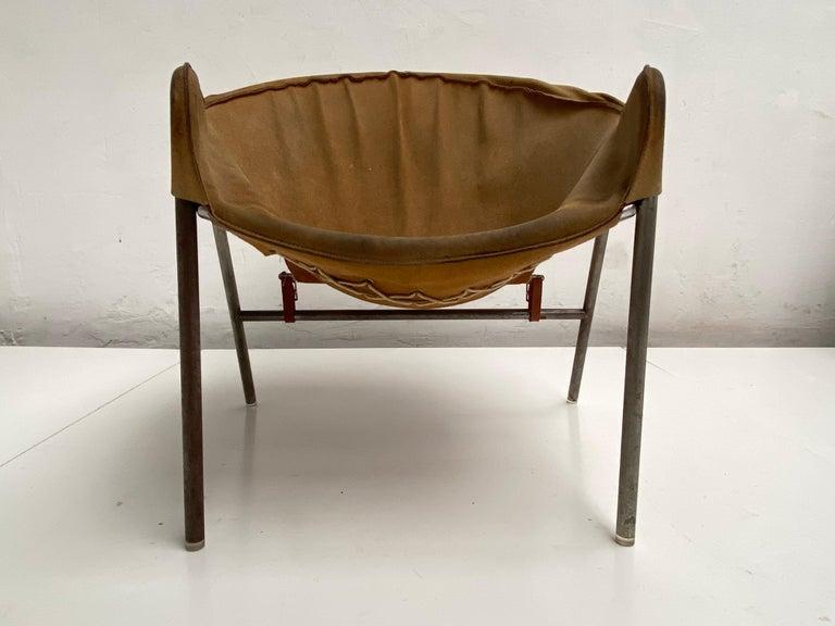 Rare Erik Ole Jørgensen Model BO 360 Suede Lounge Chair, Bovirke, Denmark For Sale 5
