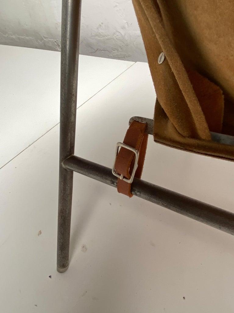 Rare Erik Ole Jørgensen Model BO 360 Suede Lounge Chair, Bovirke, Denmark For Sale 6