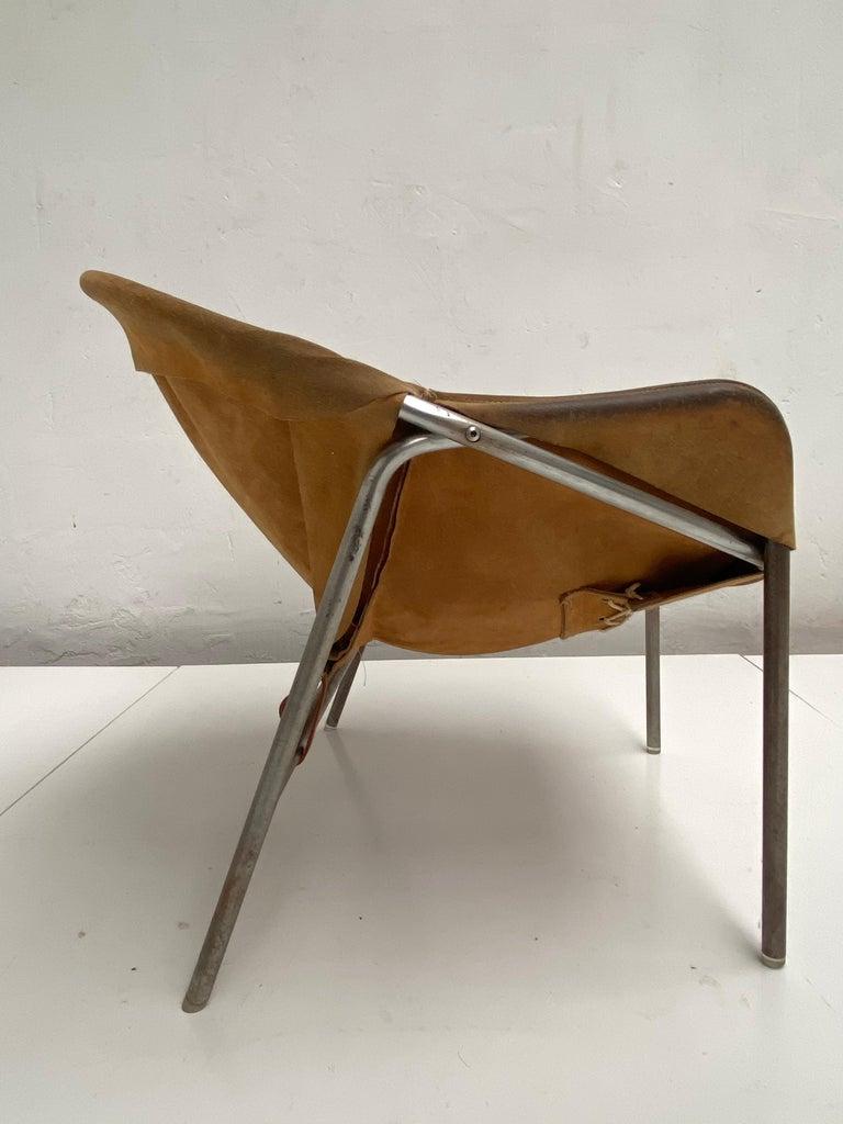 Scandinavian Modern Rare Erik Ole Jørgensen Model BO 360 Suede Lounge Chair, Bovirke, Denmark For Sale