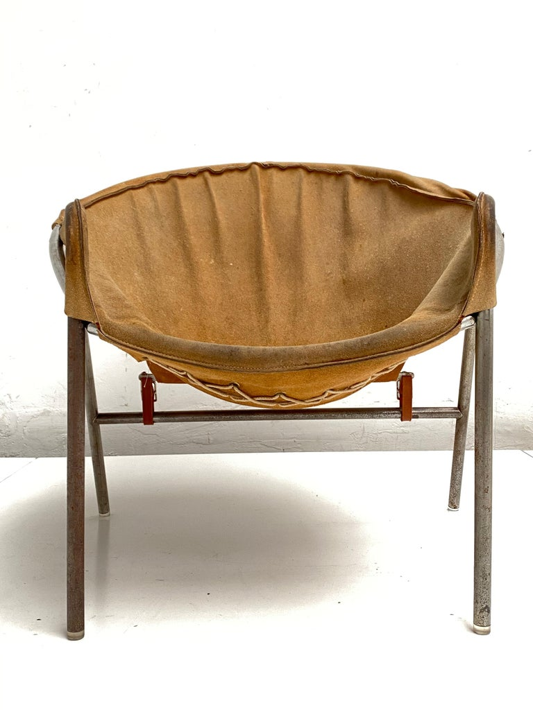 Rare Erik Ole Jørgensen Model BO 360 Suede Lounge Chair, Bovirke, Denmark In Good Condition For Sale In Bergen op Zoom, NL
