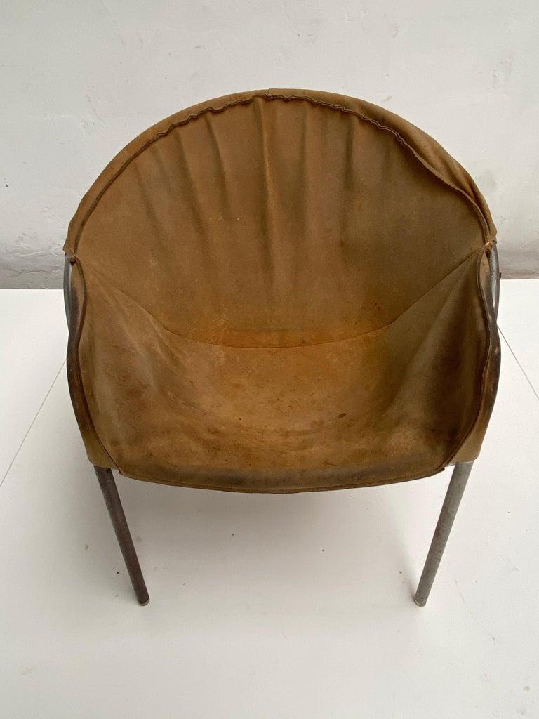 Rare Erik Ole Jørgensen Model BO 360 Suede Lounge Chair, Bovirke, Denmark For Sale 1