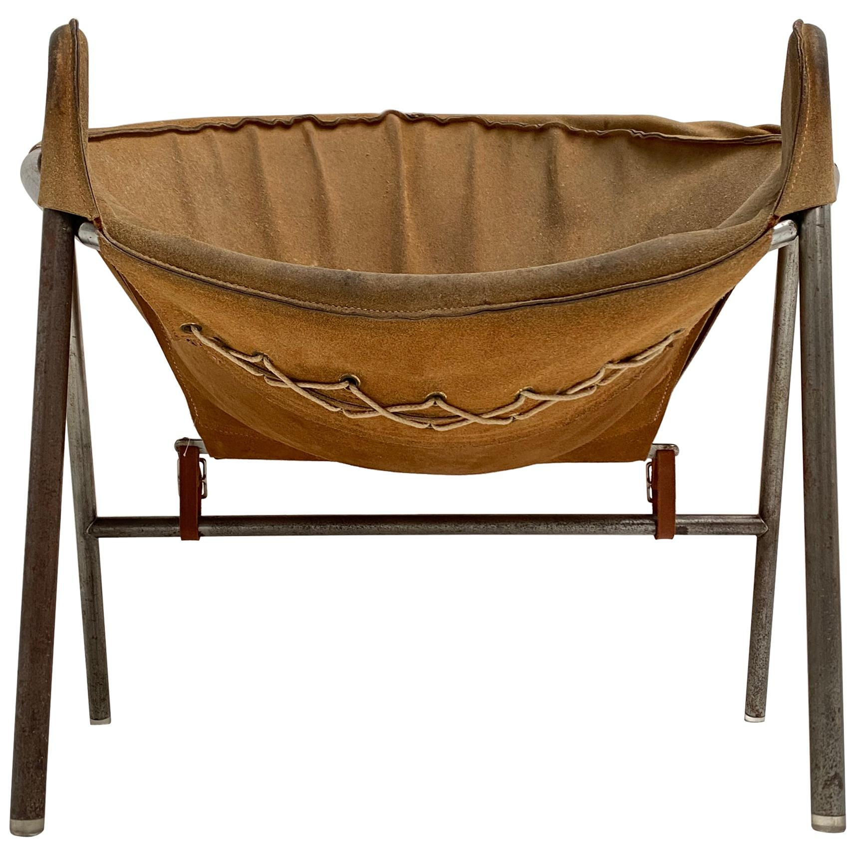 Rare Erik Ole Jørgensen Model BO 360 Suede Lounge Chair, Bovirke, Denmark