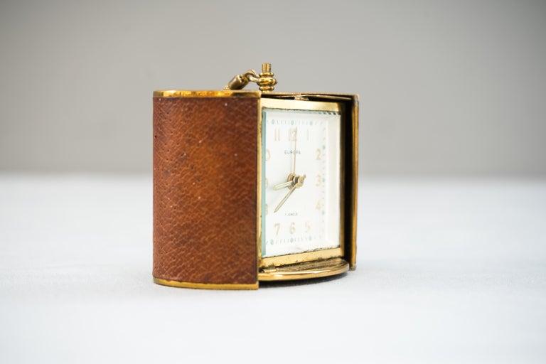 German Rare Europa Travel Clock
