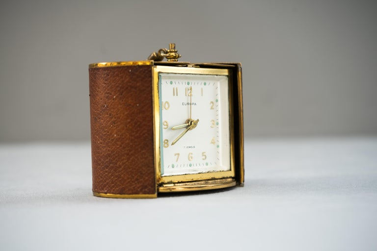 Mid-20th Century Rare Europa Travel Clock