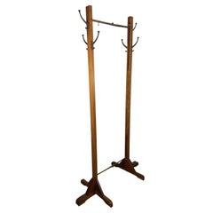 Rare Expanding Arts & Crafts Free Standing Coat Tree or Stand