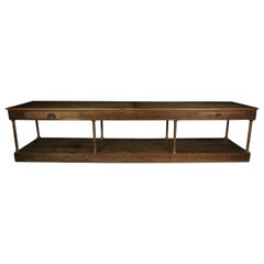 Rare Extra Large Oak Console from France, circa 1900