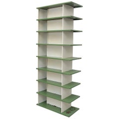 "Rare Extra Tall Wim Rietveld Metal Bookcase Shelves for ""De Bijenkorf"""