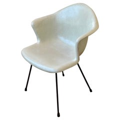 Rare Fiberglass Armchair Designed by Lawrence Peabody with Iron Base