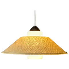 Rare Fiberglass /Opaline Glass Ceiling Lamp by Louis Kalff for Philips, 1950s