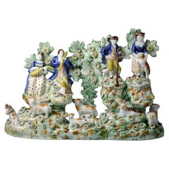 Rare Figure Group by Tittensor Staffords, 18th Century