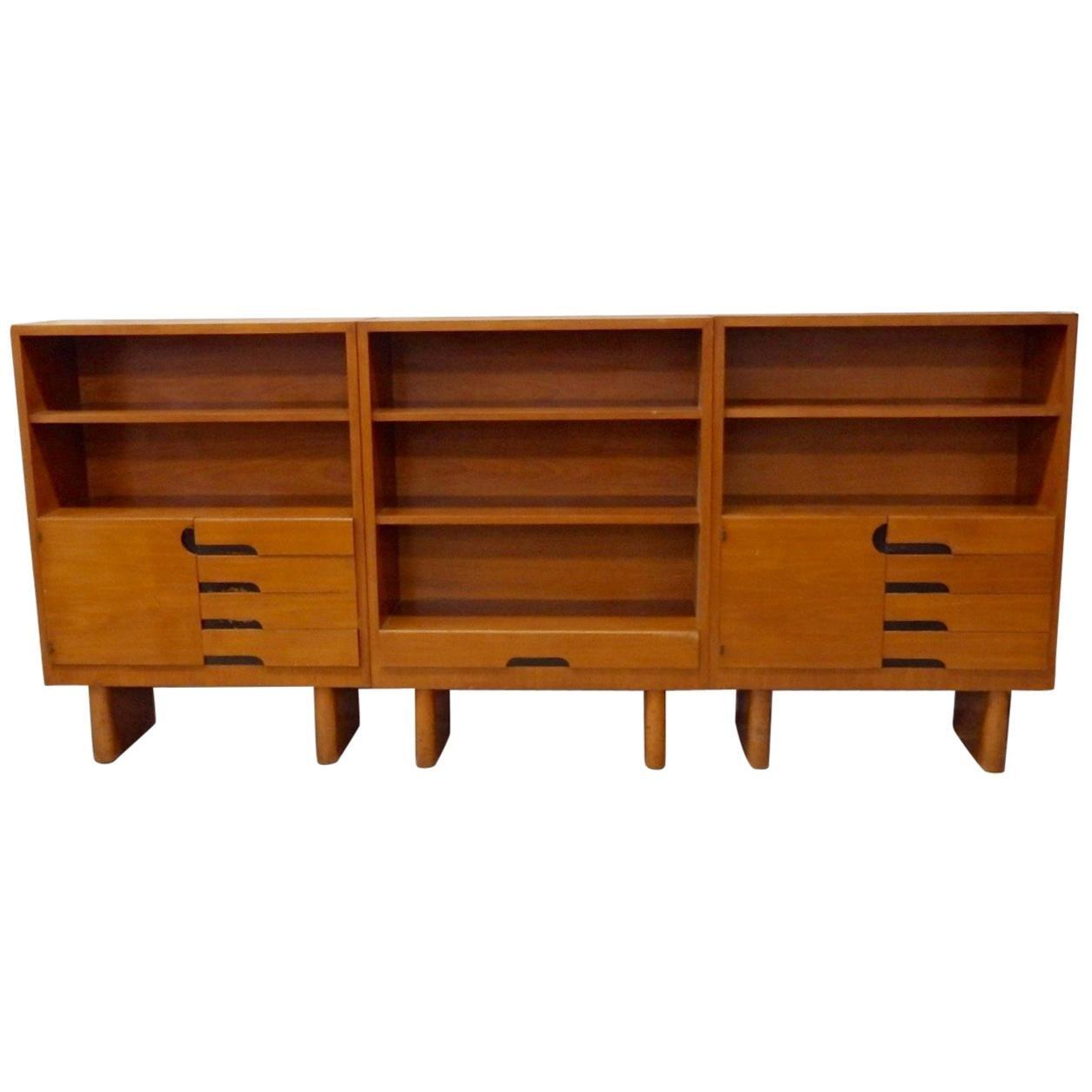 Rare Find Three Gilbert Rohde for Herman Miller Art Deco Bookshelf Units