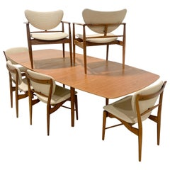 Rare Finn Juhl Baker 1950s Dining Set by Baker Furniture