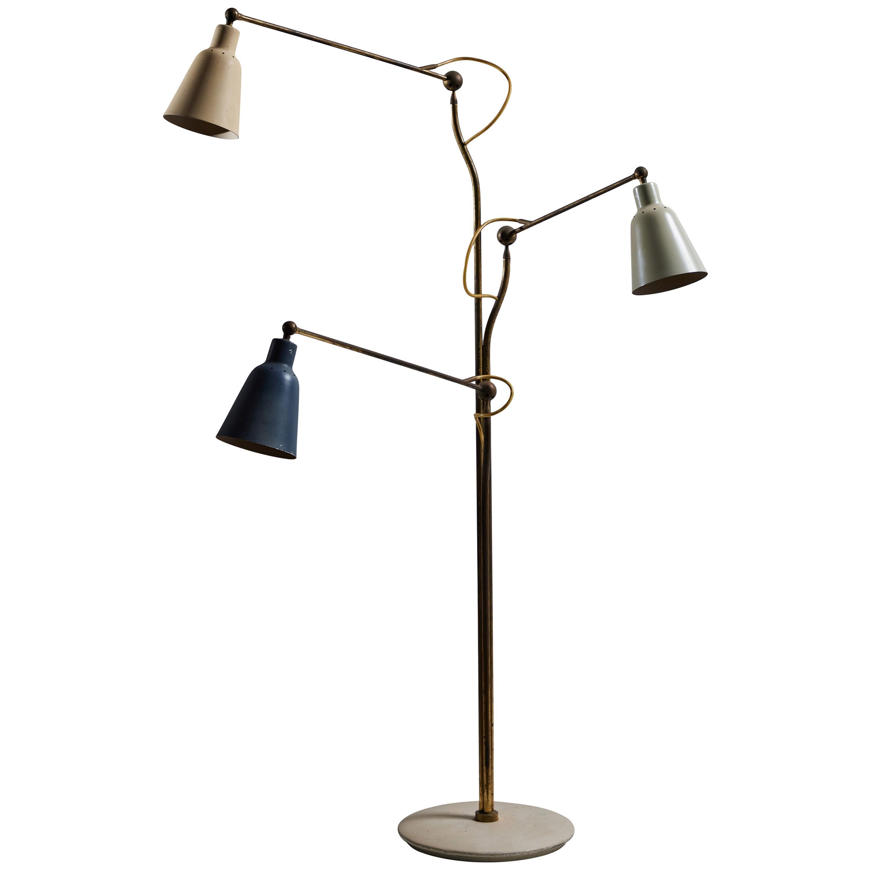Rare Floor Lamp by Angelo Lelii for Arredoluce