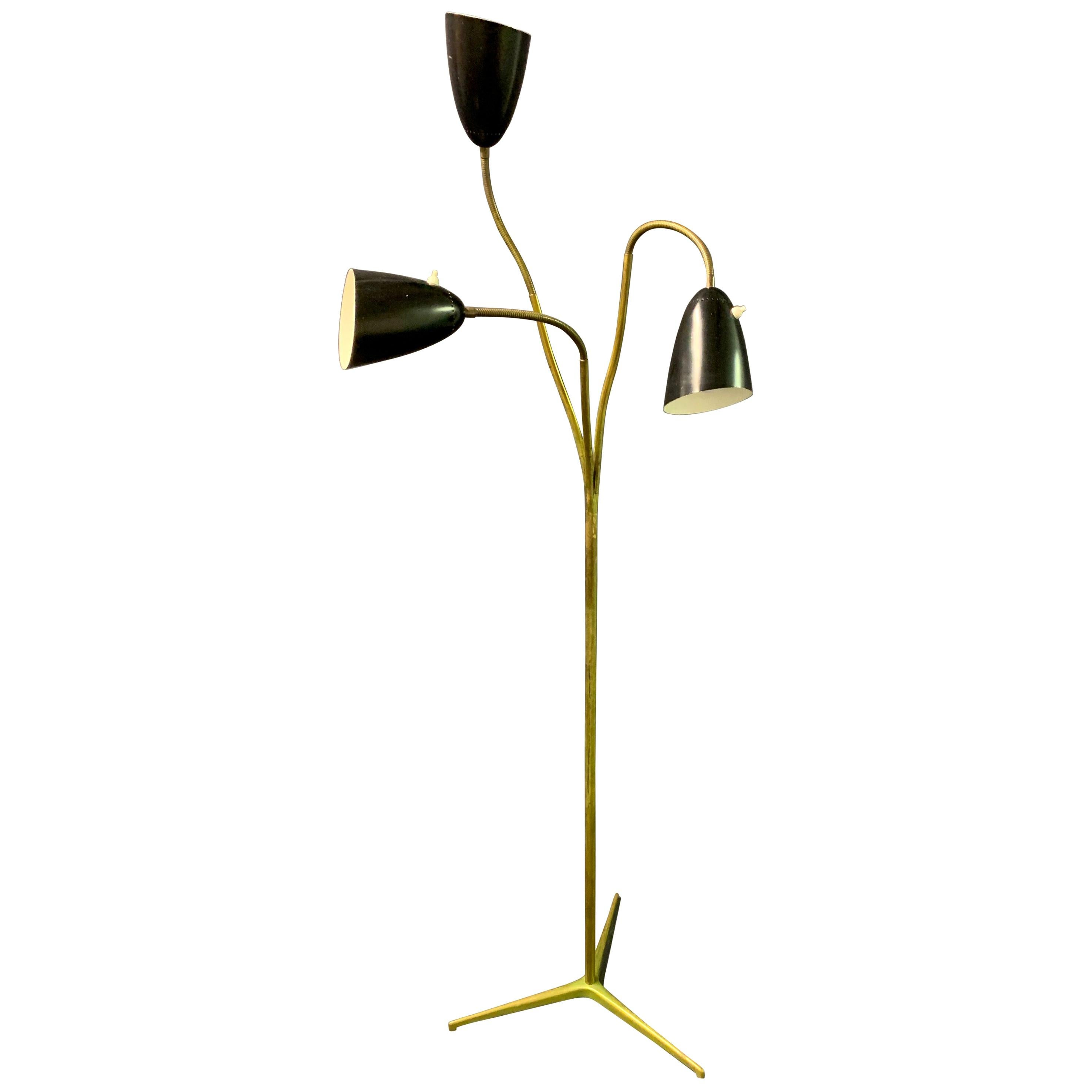 Rare Floor Lamp by Giuseppe Ostuni for O-Luce
