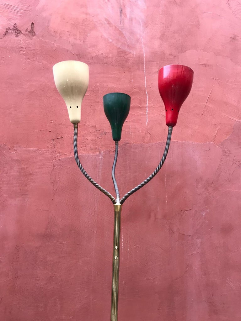Rare Floor Lamp by Giuseppe Ostuni for O-Luce, Italy, 1950 In Good Condition For Sale In London, GB