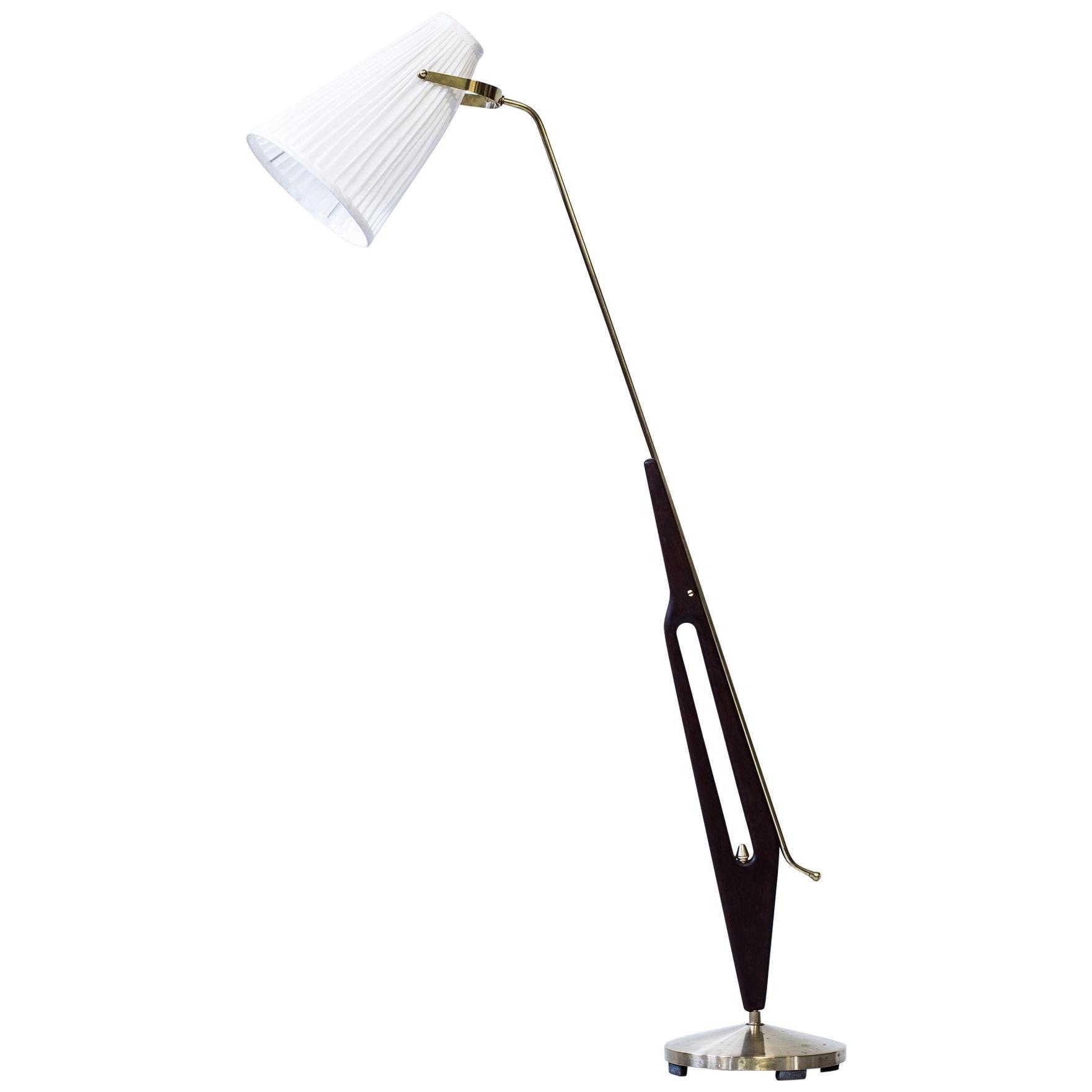 Rare Floor Lamp by Hans Bergström for ASEA, Sweden, 1950s