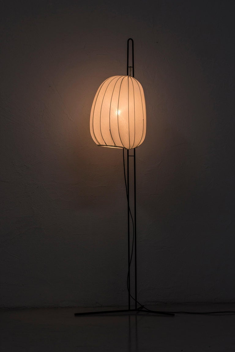 Rare Floor Lamp by Hans Bergström for Ateljé Lyktan, Sweden, 1950s For Sale 3