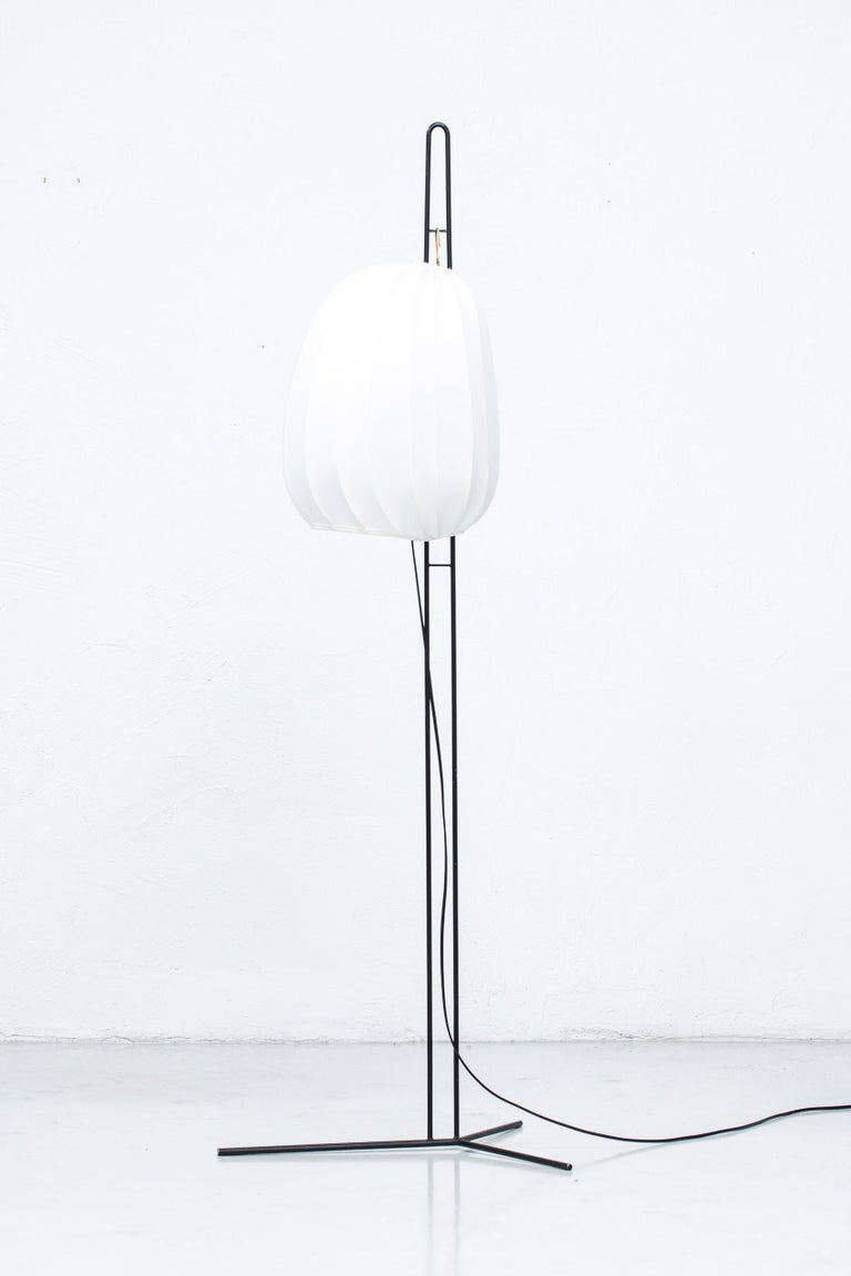 Rare Floor Lamp by Hans Bergström for Ateljé Lyktan, Sweden, 1950s For Sale 6