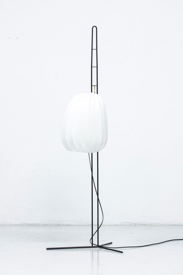 Rare Floor Lamp by Hans Bergström for Ateljé Lyktan, Sweden, 1950s For Sale 8
