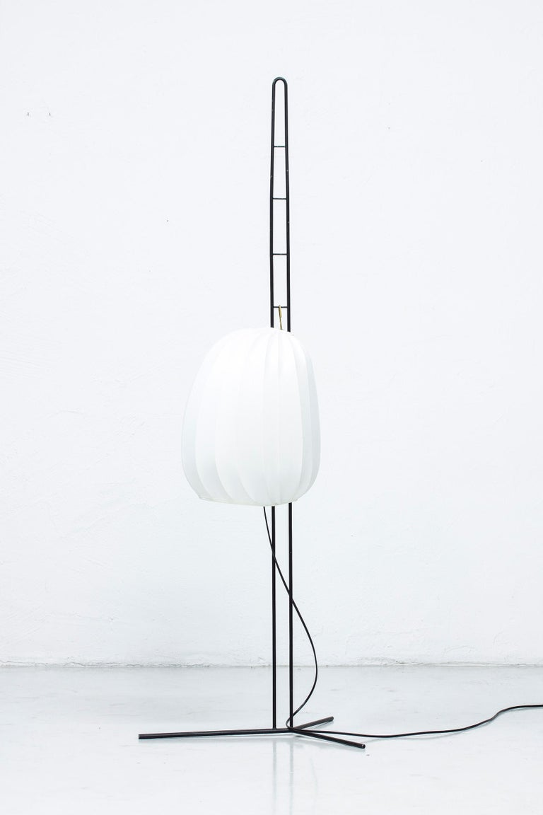 Rare Floor Lamp by Hans Bergström for Ateljé Lyktan, Sweden, 1950s For Sale 9