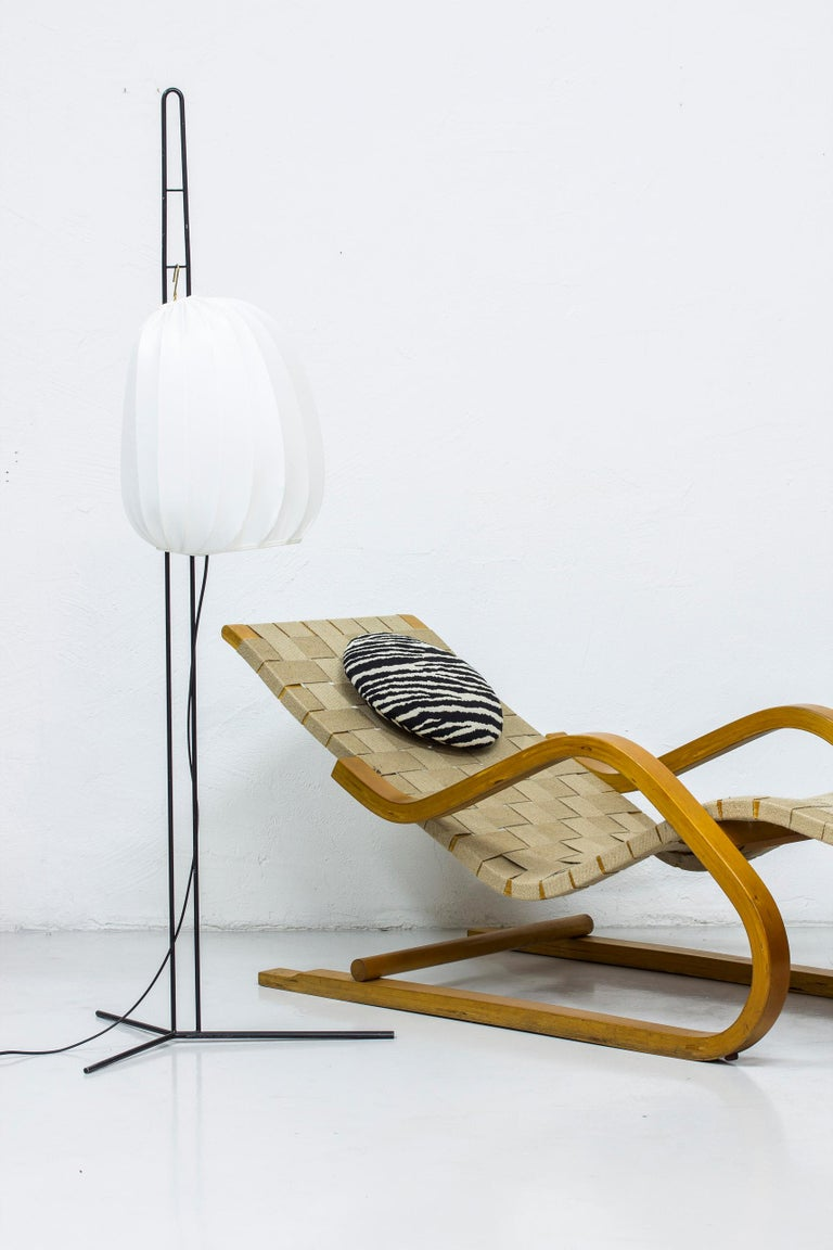 Metal Rare Floor Lamp by Hans Bergström for Ateljé Lyktan, Sweden, 1950s For Sale