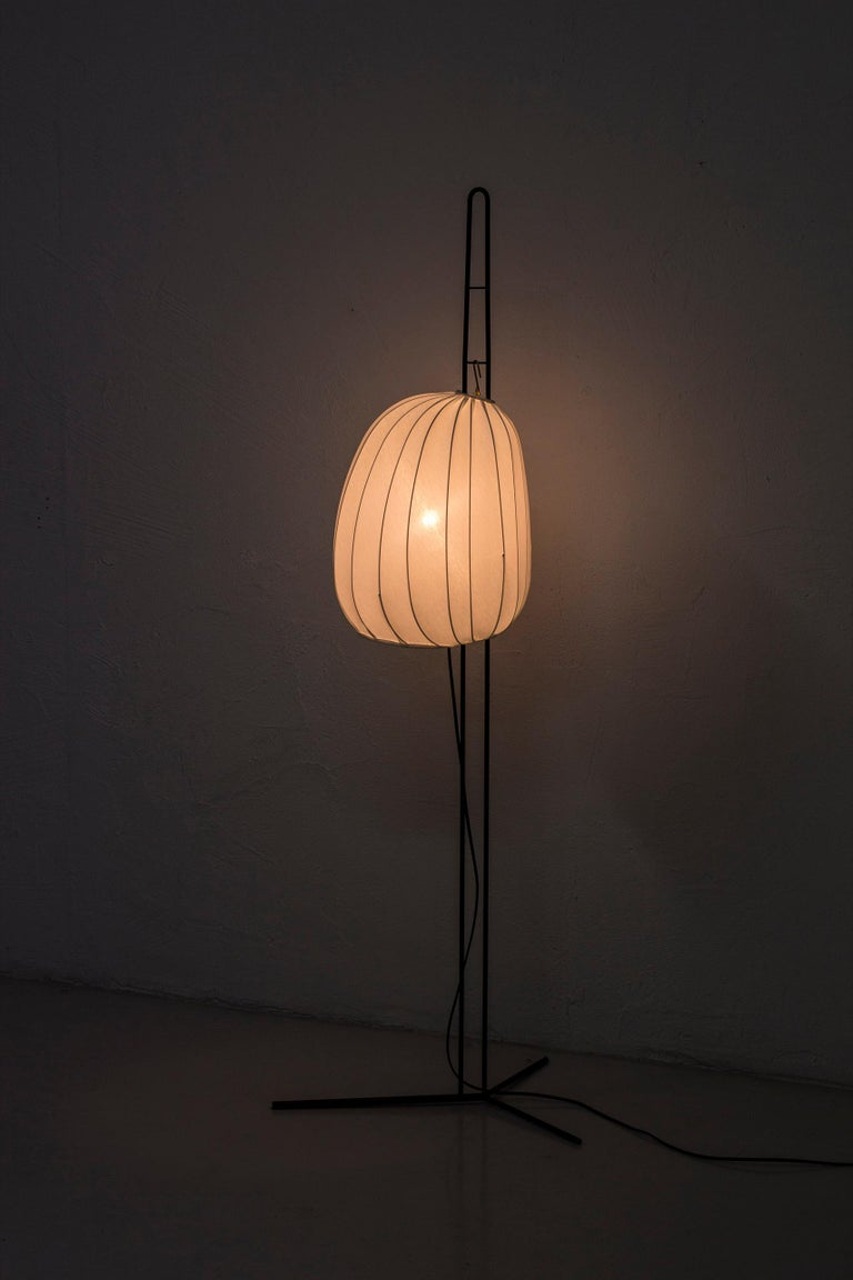Rare Floor Lamp by Hans Bergström for Ateljé Lyktan, Sweden, 1950s For Sale 2