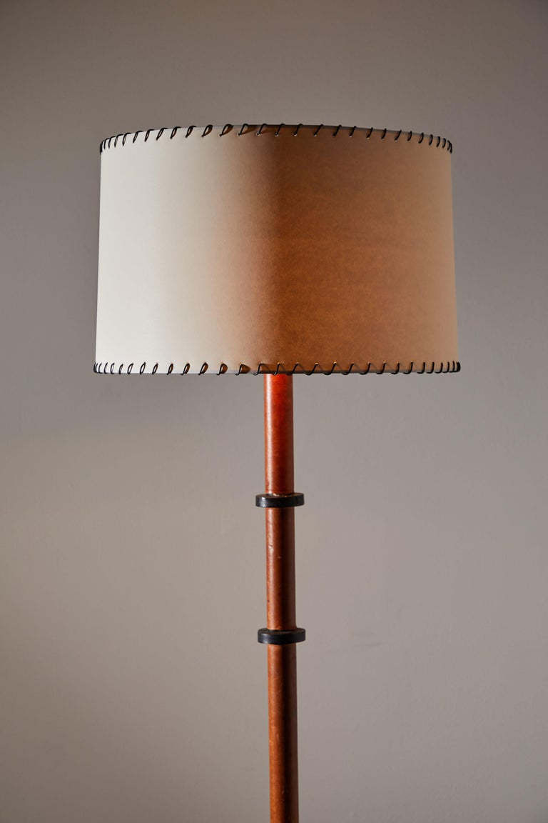 Mid-Century Modern Rare Floor Lamp by Jacques Adnet For Sale