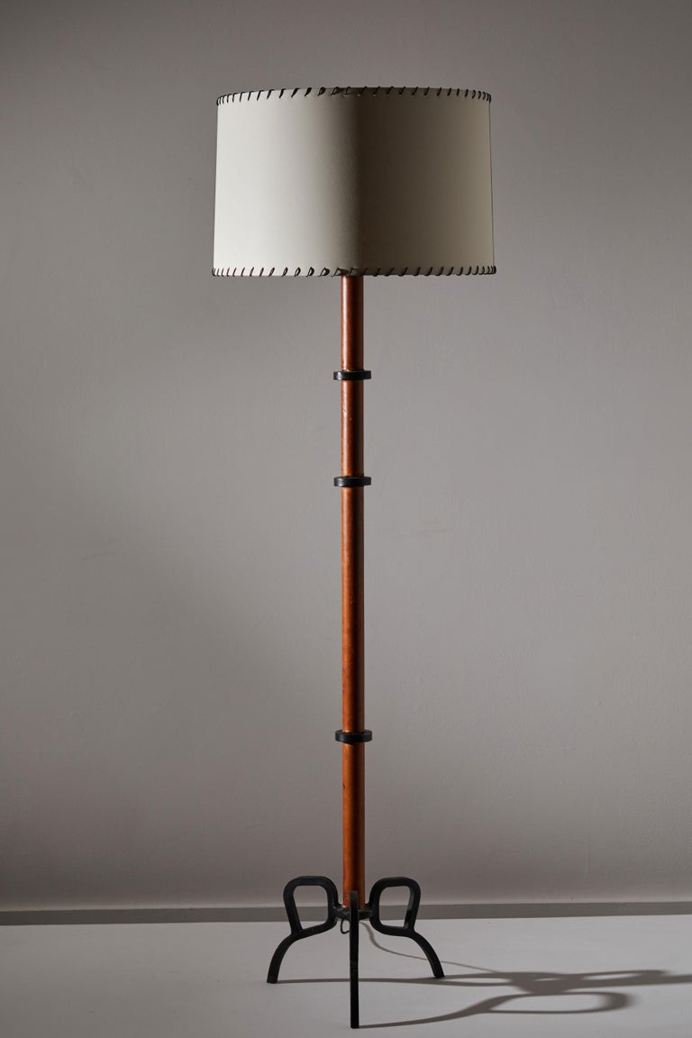 French Rare Floor Lamp by Jacques Adnet For Sale
