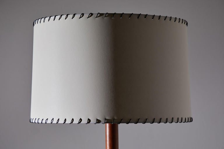 Enameled Rare Floor Lamp by Jacques Adnet For Sale