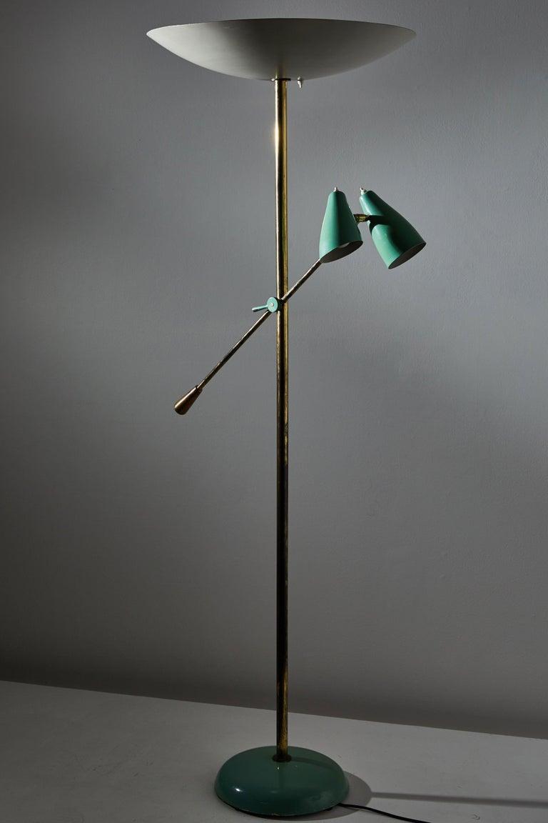European Rare Floor Lamp by Stilnovo For Sale