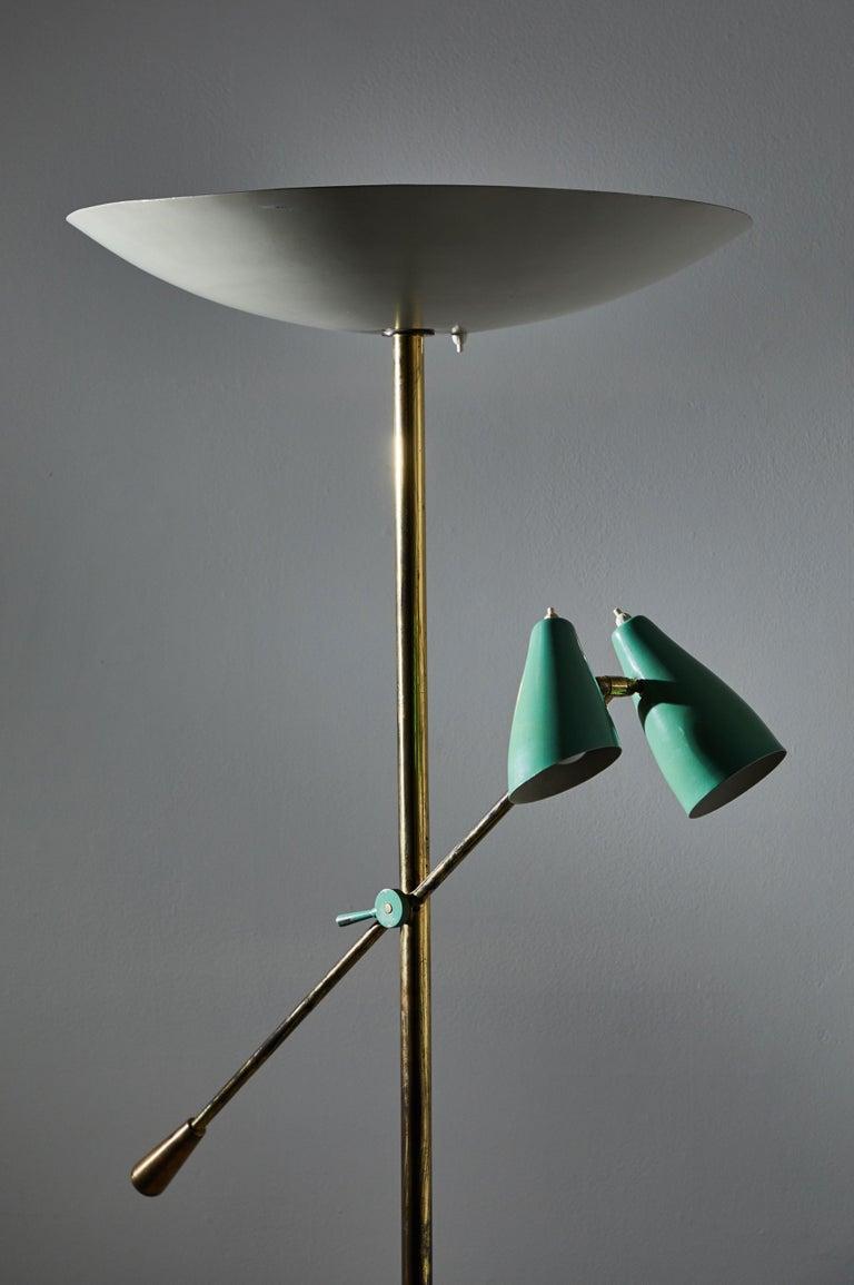 Mid-20th Century Rare Floor Lamp by Stilnovo For Sale