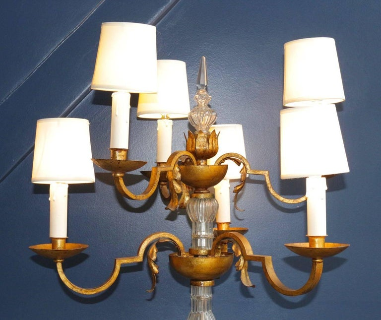 Rare Floor Lamp in the Style of Poillerat, France, 1940s For Sale 1