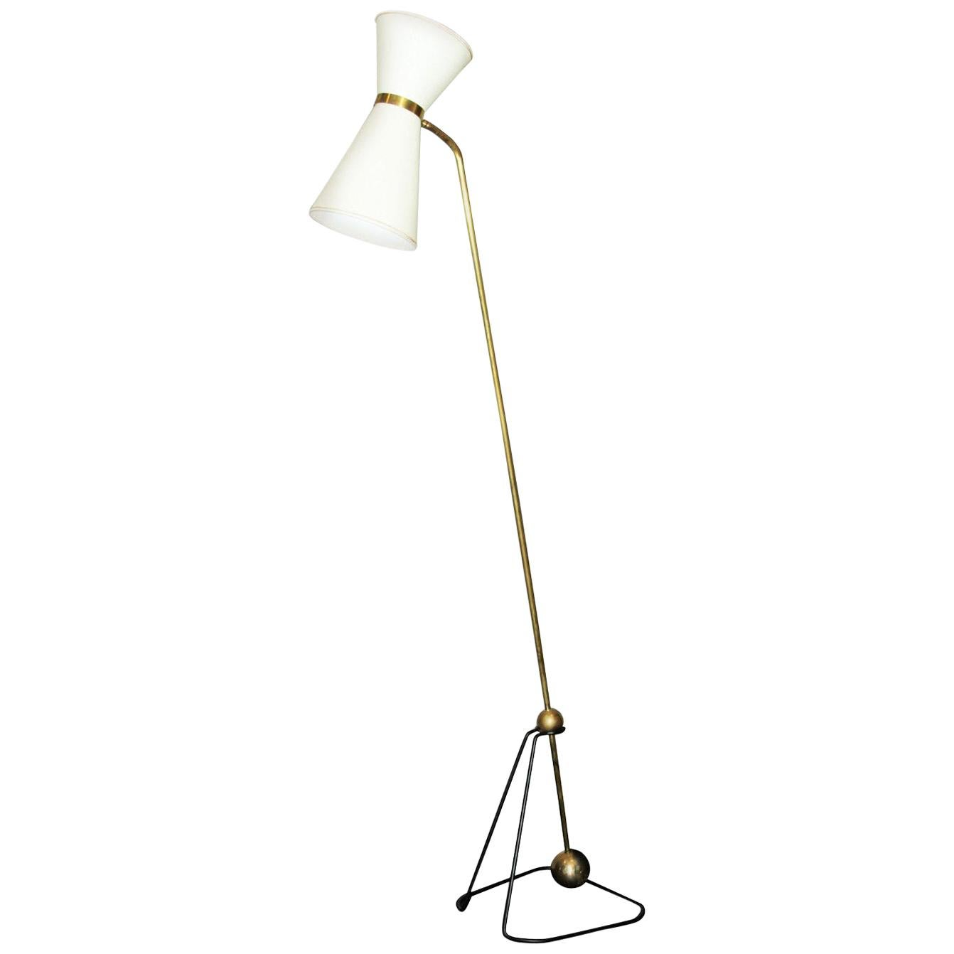 Rare Floor Lamp, Model of Pierre Guariche, 1970