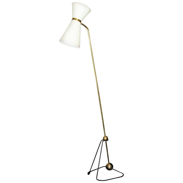 Rare Floor Lamp, Model of Pierre Guariche, 1970 For Sale