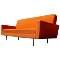 Rare Florence Knoll Sofa for Re-Upholstery