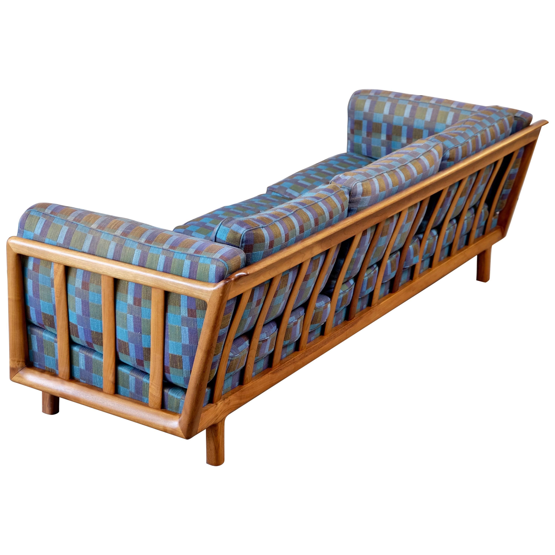 Rare Folke Ohlsson Walnut Sofa by DUX, Sweden, 1960s