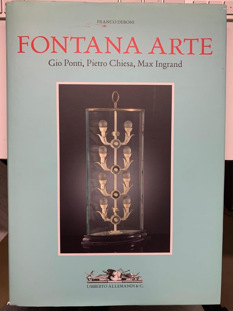 Rare Fontana Arte Chandelier by Pietro Chiesa Published For Sale 8