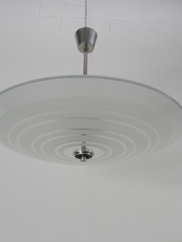 20th Century Rare Fontana Arte Chandelier by Pietro Chiesa Published For Sale