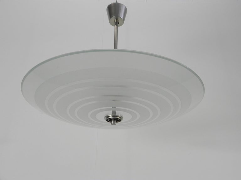 Rare Fontana Arte Chandelier by Pietro Chiesa Published For Sale 1
