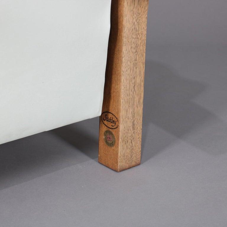 Rare Form Arts And Crafts Stickley Bros Bow Arm Morris