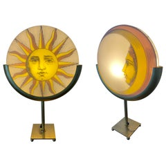 Rare Fornasetti Sun and Moon Table Lamp