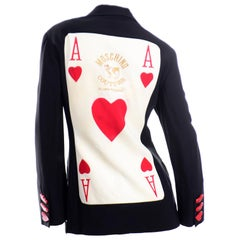 Rare Franco Moschino Couture Juvant Ace of Hearts Blazer Jacket