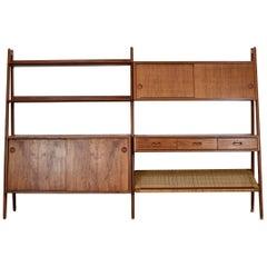 Rare Freestanding Bookshelf by Arne Vodder & Anton Borg for Vamo, Denmark, 1950s