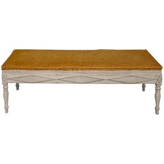 Rare Freestanding Swedish Bench