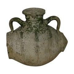 Rare French 18th Century Glazed Terracotta Water Jug / Cruche