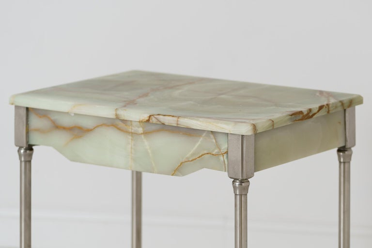 20th Century Rare French Agate Patisserie Table For Sale