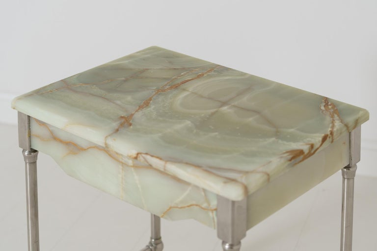 Rare French Agate Patisserie Table For Sale 1
